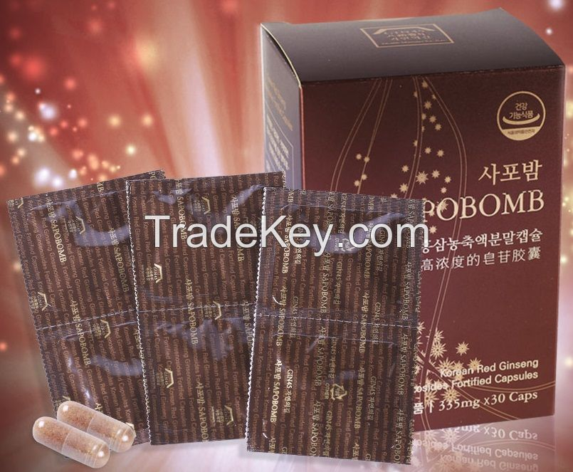SAPOBOMB Korean Red Ginseng Extract Powder Capsules
