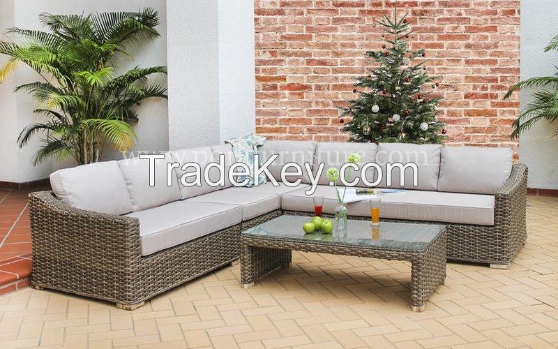 outdoor indoor wicker rattan sofa garden furniture set