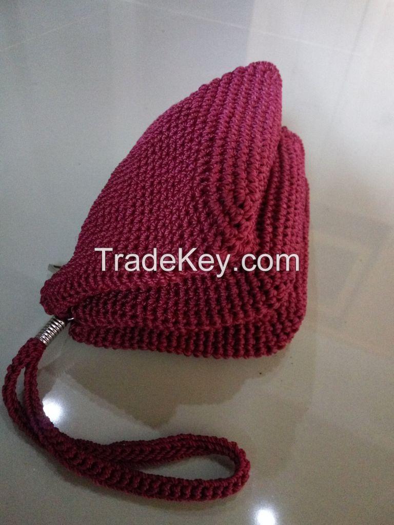 knit wallet handmade