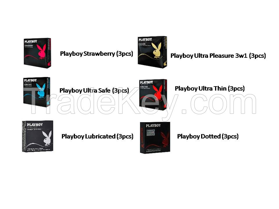 Playboy condoms 3 packs - overstock prices!