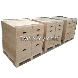 Crossfit Wooden jerk blocks for crossfit lifting and weight lifting