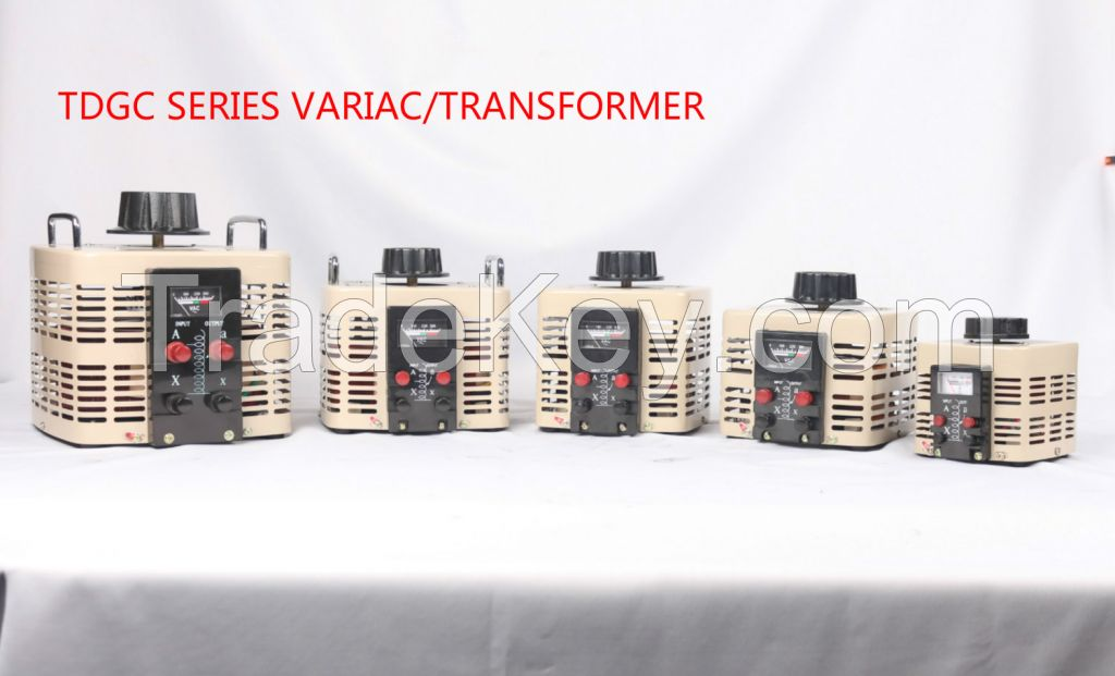 TDGC2 series contact type voltage Regulator,VARIAC