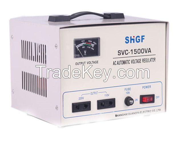 SVC/TND-1500VA series single phase voltage stabilizer