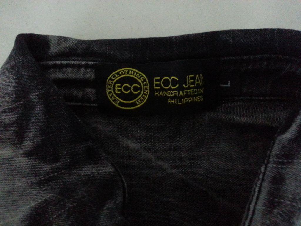 ECC Jeans Acid Wash Denim Polo