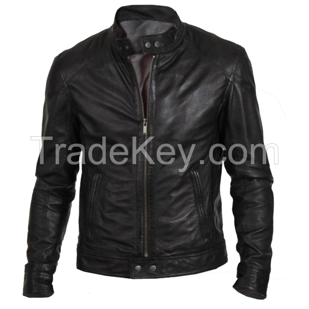 LEATHER MEN FASHION JACKET KMX-0084