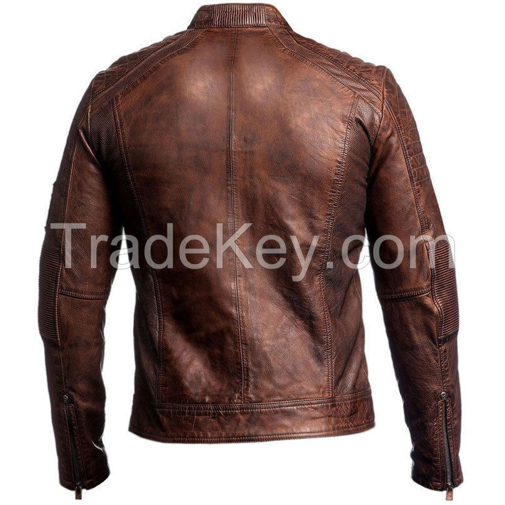LEATHER MEN FASHION JACKET KMX-0086
