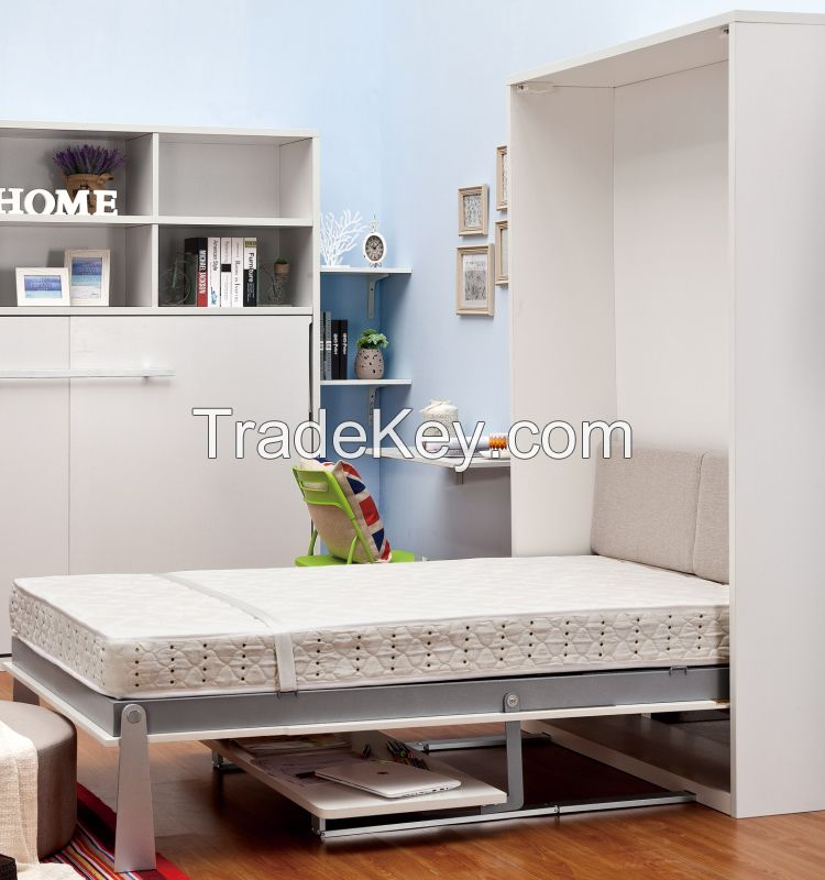 Space saving Murphy bed, wall bed, folding wall bed