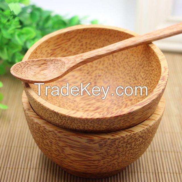 Coconut wood bowls