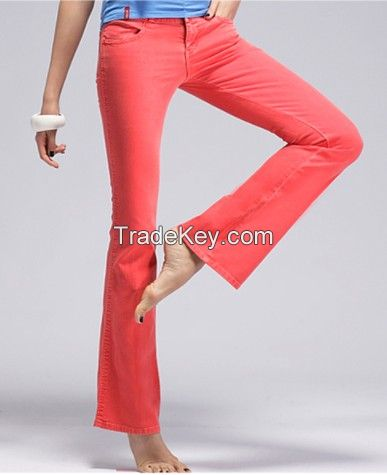 Colorful jeans; Ladies pants