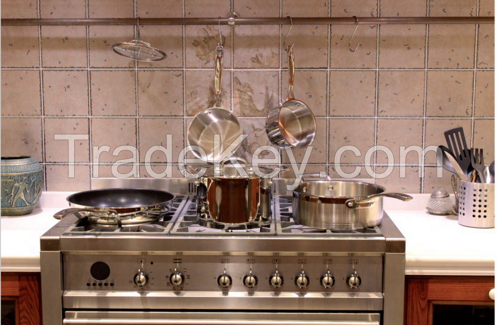 Straight Shape Body Cooking Pan 5PCS Saucepan Set