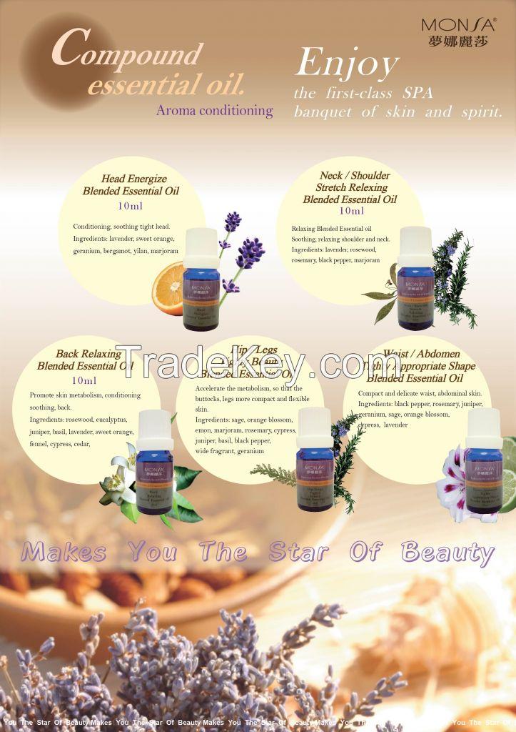 Neck stretch vitality oil compound