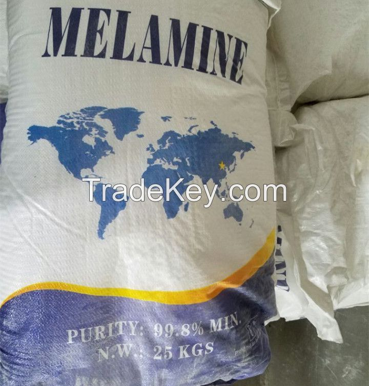 99.8% Melamine for Melamine Foam of Fire Insulation/Sound Proofing