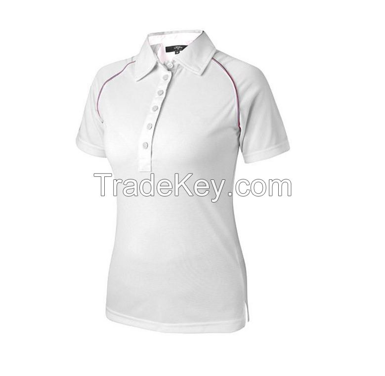 On sale!hot sell summer woman polo shirt high quality free iron