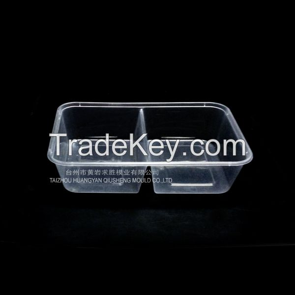 transparent disposable fastfood container plastic mould