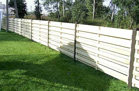 Wooden sence