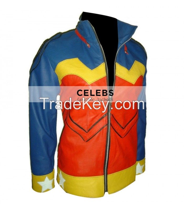WONDER WOMAN COSTUME LEATHER JACKET