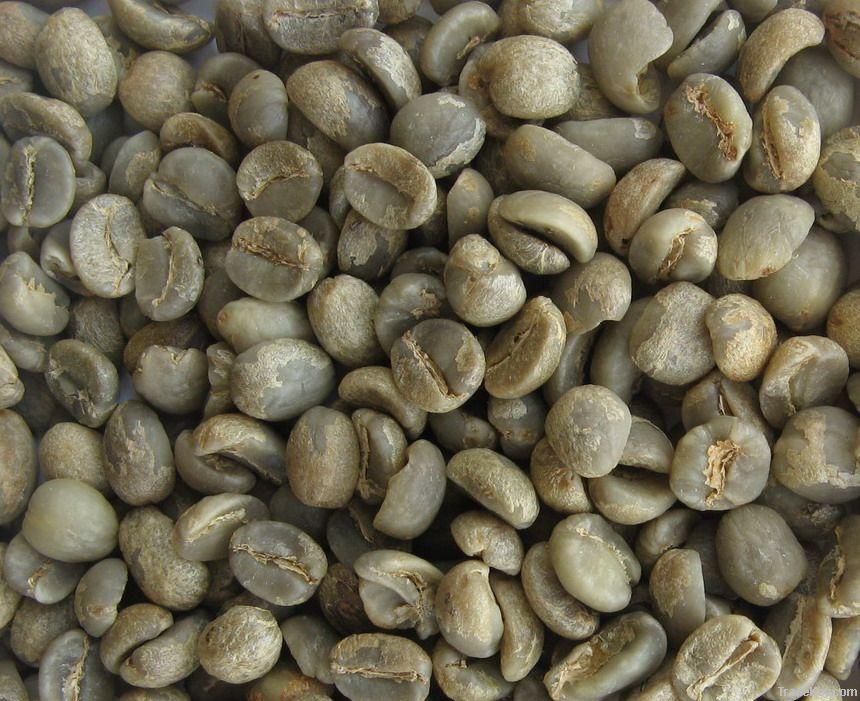 boabe de cafea procesate prin spalare