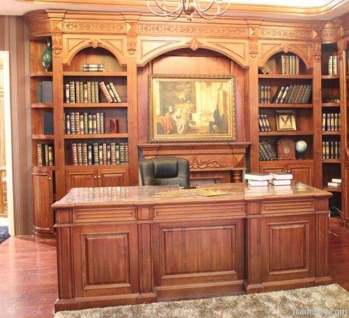 Curio desk / Cabinets Set (Solid Wood)