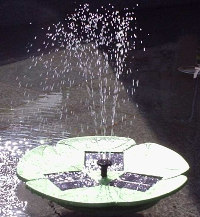 The Floating Lotus Brushless Motor Solar Fountain | solarproducts ...