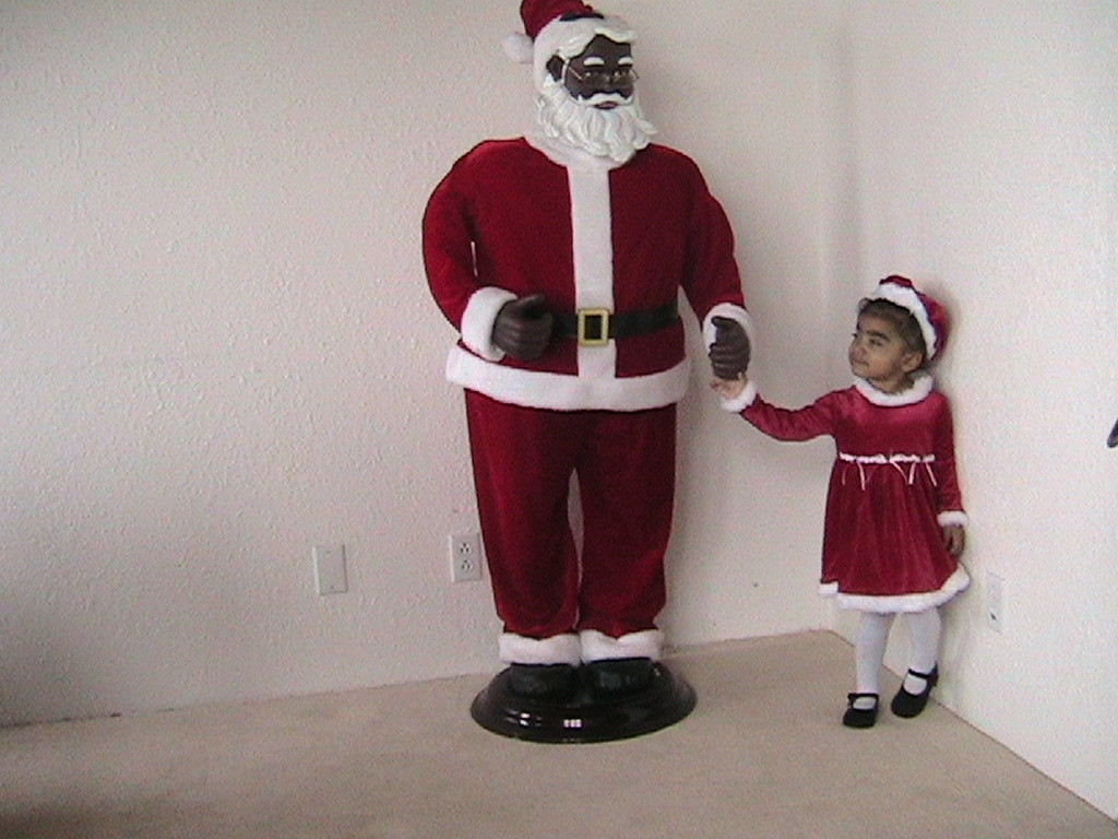 5 Ft Singing Dancing African American Santa Claus Blak