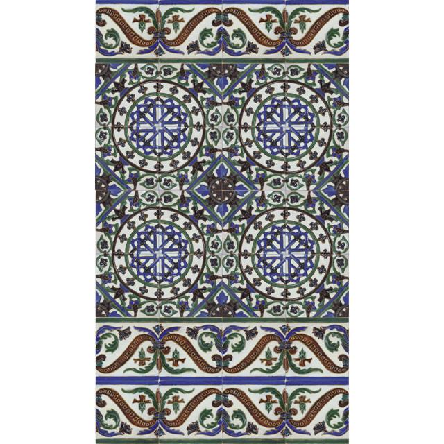 XVI Total Handmade Moorish Arab Cuenca ceramic Tiles #1