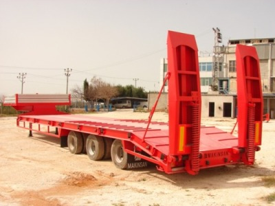 4 axles lowbed semi trailer