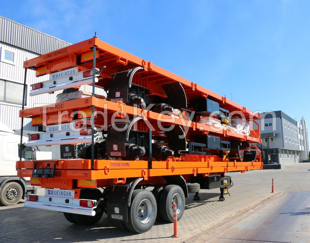 Flatbed Semi Trailer with cover