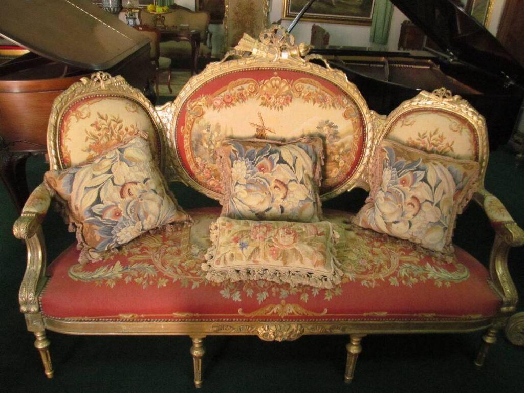 Buy pakistani french aubusson sofa salon set chair for Savonnerie salon