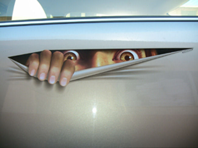 Peeping Tom Car Sticker