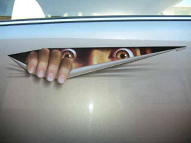 Peeping Tom Car Sticker