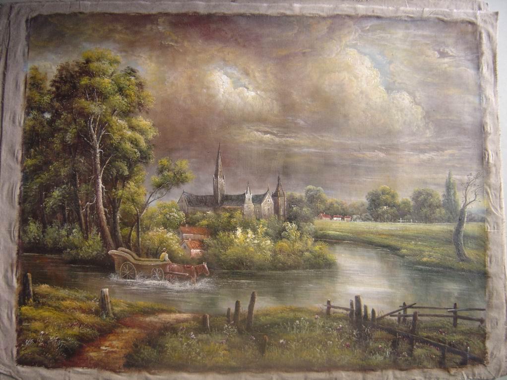 Classical Landscape - George Lambert as art print or hand