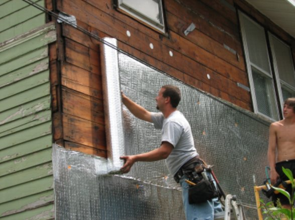 Microvent under vinyl siding insulation by barrett - Exterior house insulation under siding ...