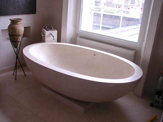 marble, granite or travertine bathtubs