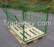 Metal Wire Mesh Storage Pallet Cage