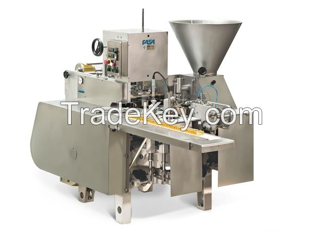 Cheese filling and wrapping machine