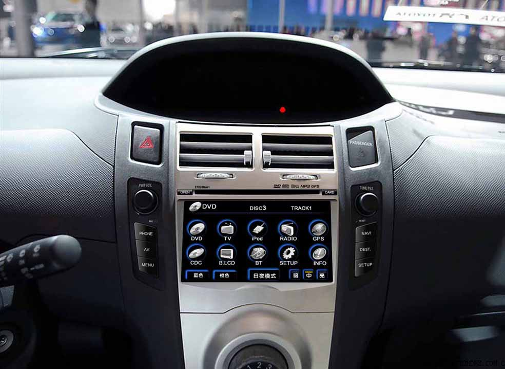 car audio video navigation system for toyota yaris by. Black Bedroom Furniture Sets. Home Design Ideas