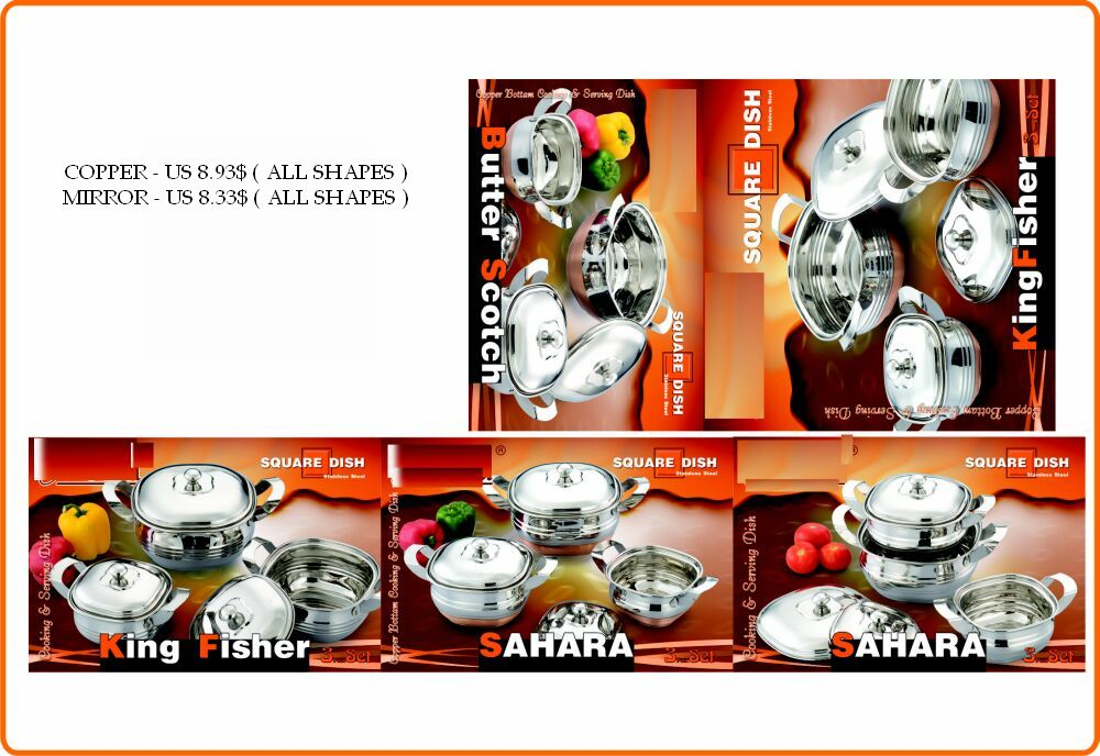 stainless steel cookware , tableware , kitchenware