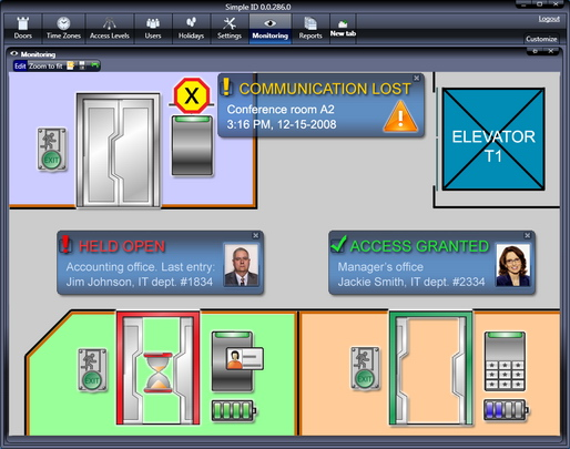 SimpleID Access Control Software