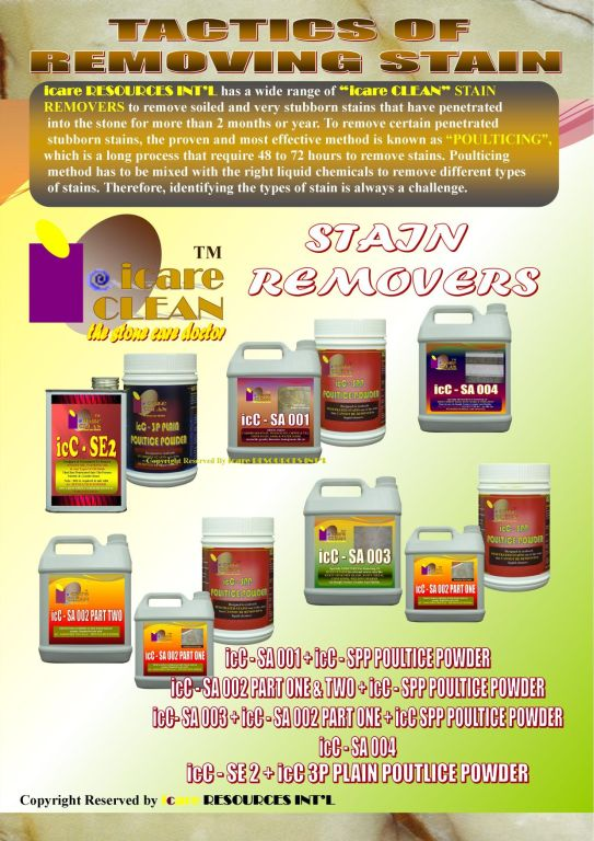 Marble/Granite Stain Removers By i.DEAS n STYLES