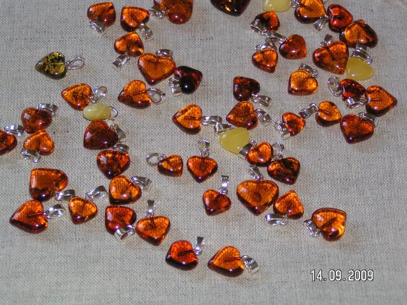Baltic amber heart