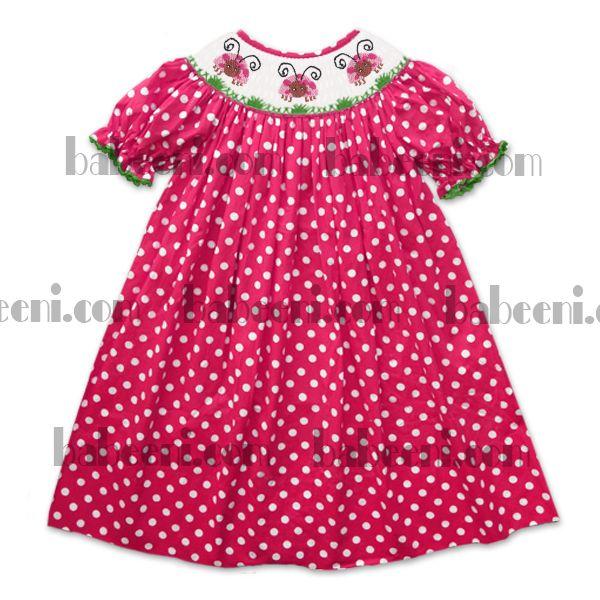 Toddler Girl Dresses With Polka Dot Fabric