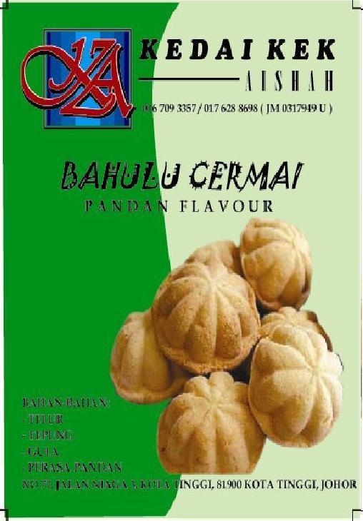 Bahulu Cermai - Pandan Flavour