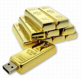 USB flash disk, gold bar usb stick, gold bar usb drive, metal usb flash