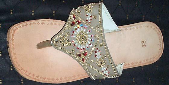 Fashionable Beaded Footwear