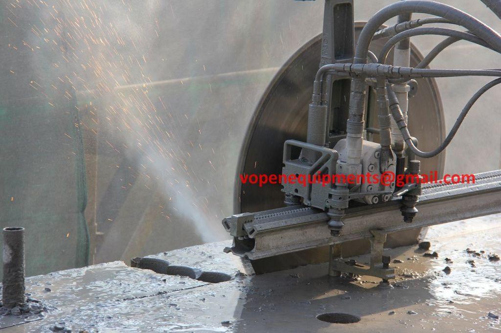 Saw Cutting Concrete Walls : Diamond wall saw hydraulic track n concrete