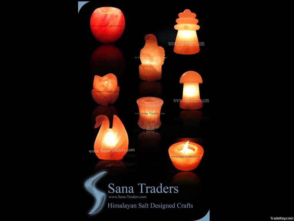 Salt Lamp Tea Lights : Buy Pakistani Himalyan Natural Rock Salt Designed Lamps & Tea Lights online from Sana Traders at ...