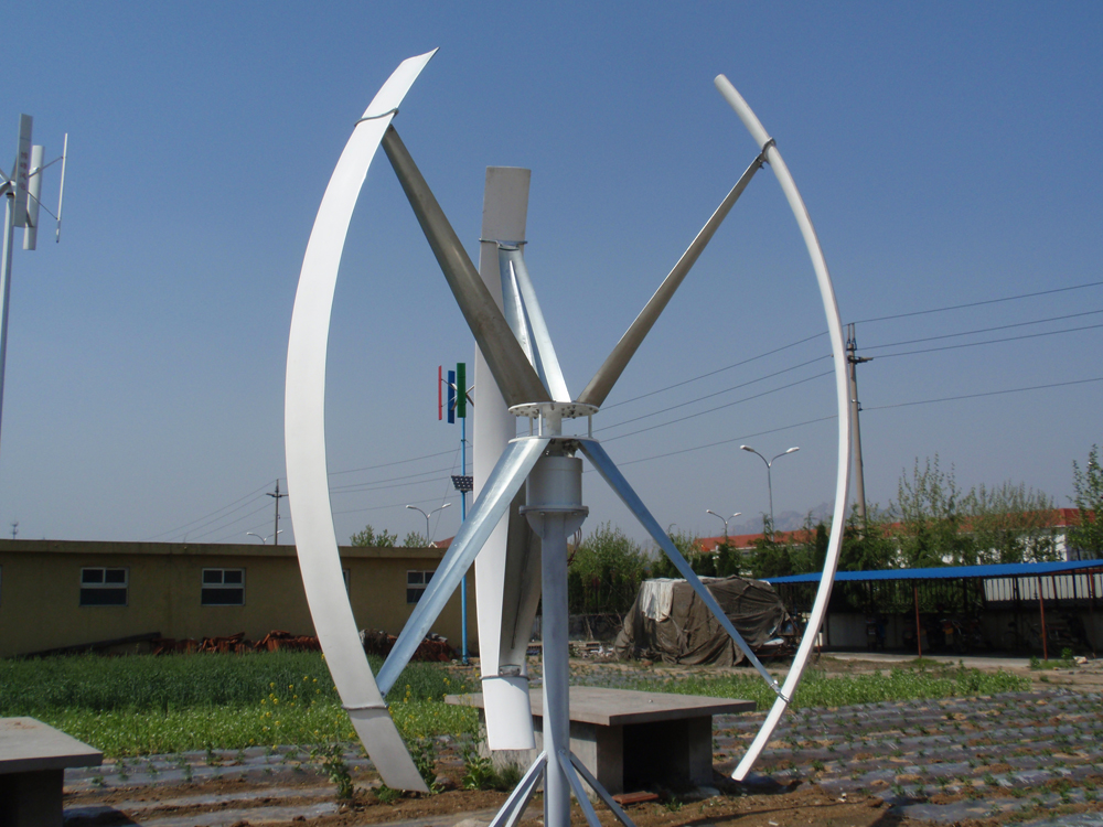 H type 3KW vertical wind turbines By Solar and Wind Technology International, China