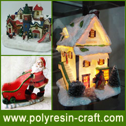 Manufacture- Resinic Crafts-Christmas Village Houses