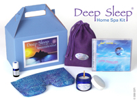 Deep Sleep Home Spa Kit / Spa Gift Set with Deep Sleep Essential Oil