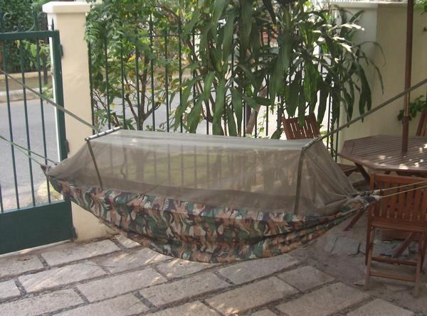 Medium image of us army jungle hammock with mosquito  ting